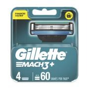Gillette Mach 3+ Blades Replacement Cartridges Pack 4