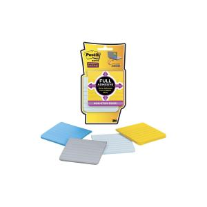 Post-It Super Sticky Notes Full Adhesive Assorted Colours 76 x 76mm Pack 4