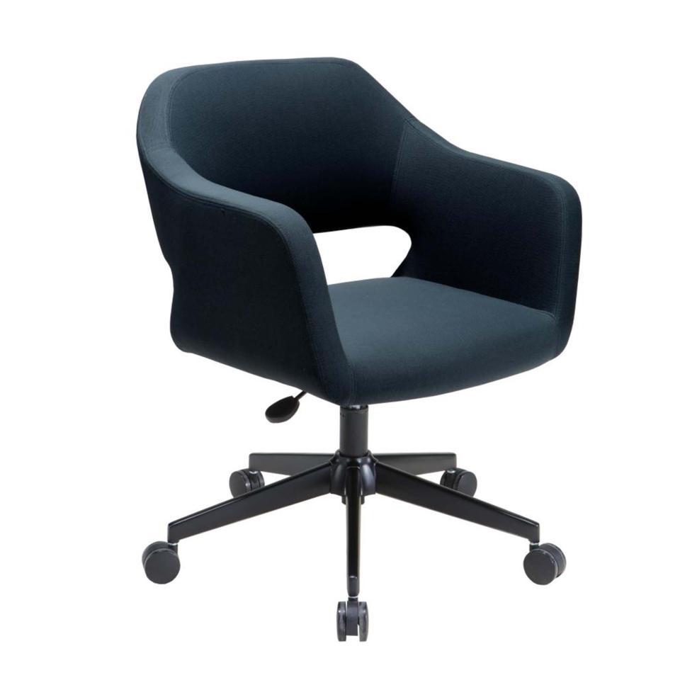 Winc Astute Desire Meeting Chair with Black Powder Coat 5 Star Base Charcoal