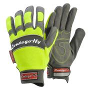Frontier P8174Hv Contego Mechanics Velcro Hi-Vis W/ Reflective Piping Glove Pair Yellow Large