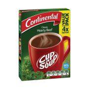 Continental Cup-A-Soup Hearty Beef Pack 4