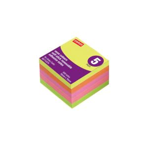 Staples Self-Stick Removable Notes 76X76mm Neon 5 Pads Pack