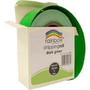 Rainbow Stripping Paper Roll Embossed 50mmx30m Dark Green