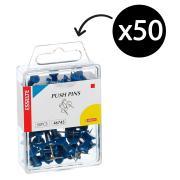 Esselte 46743 Push Pins Blue Pack 50