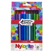 Texta Nylorite Coloured Markers Assorted Pack 24