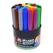 Micador Colourfun Coloured Markers Assorted Tub 48