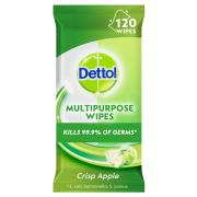 Dettol Disinfectant Surface Wipes Apple Pack 120