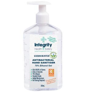 Integrity Health & Safety Indigenous Germ Buster Antibacterial Hand Sanitiser Gel 350ml P