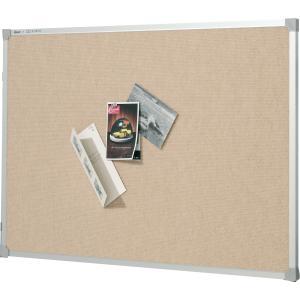 Quartet Bulletin Board Penrite Fabric 900h x 1200wmm Beige