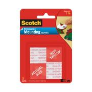 Scotch Removable Mounting Squares 2.5 x 2.5cm Clear Pack 16