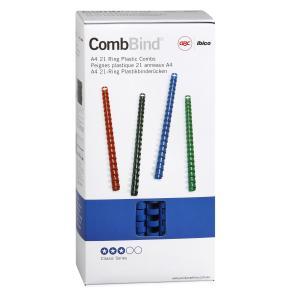GBC 21 Loop A4 Plastic Binding Combs - 14 mm - Blue - 100-Pack