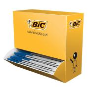 BIC Cristal Ballpoint Pen Medium 1.0mm Blue Bulk Feeder Pack 100