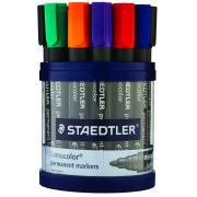 Staedtler Lumocolor Permanent Marker Bullet Tip - Cup 19 Assorted