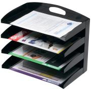 Marbig Desktop Organiser Metal 4 Tier Black