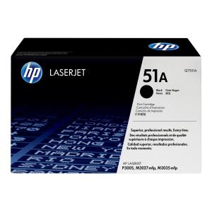 HP LaserJet 51A Black Toner Cartridge - Q7551A