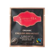 Serenitea Infusions Fairtrade Organic English Breakfast Enveloped Pyramid Tea Bags Pack 100