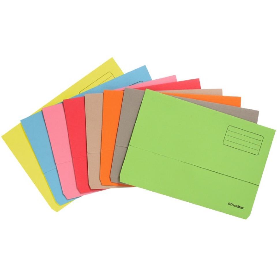 Officemax Manilla Board Document Wallet 30mm Gusset Foolscap Grey