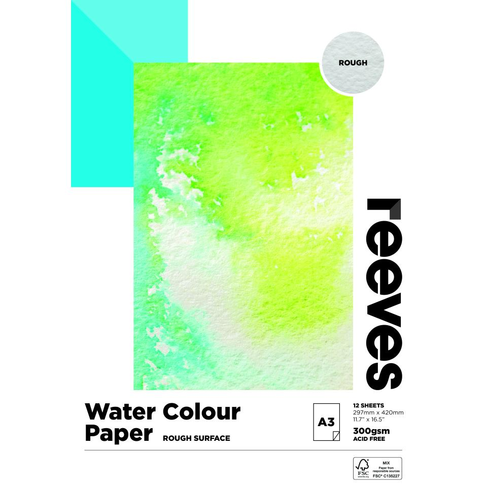 Reeves Water Colour Pad A3 300gsm 12 Sheets