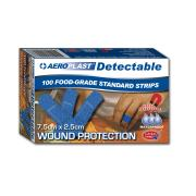 Aeroplast Blue Detectable Bandaid 25mm pkt 100