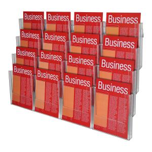 Esselte Brochure Holder 16 Compartments A4 Clear
