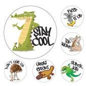 Avery Merit and Reward Stickers Australian Animals 30 mm diameter Pack 96