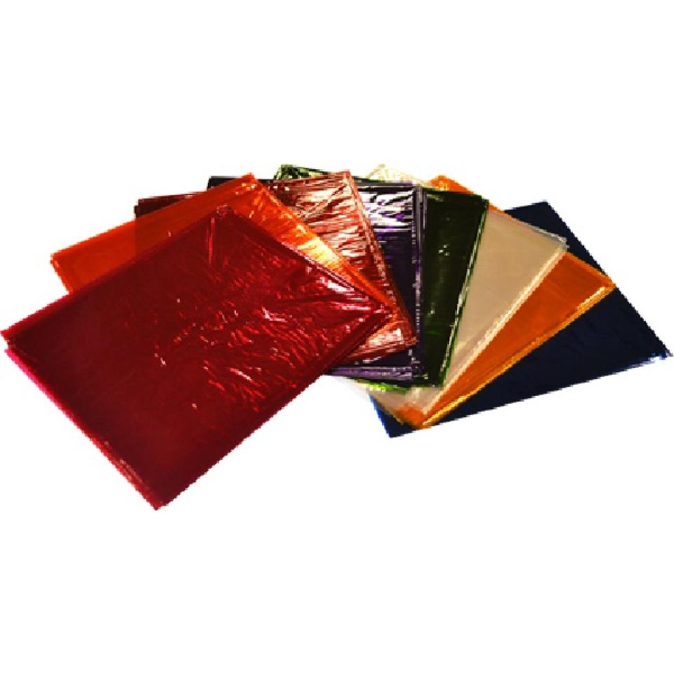 Teter Mek Cellophane 900x1000mm Assorted Colours Pkt 16