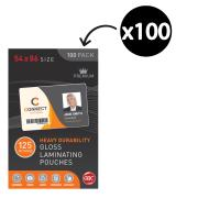 GBC 125 Micron Gloss Laminating Pouches 54 x 86 mm Pack 100