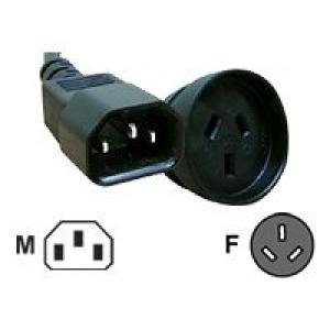 Comsol IEC-C14 Male to 3 Pin AUS Female Power Cable - 1.5 m Image