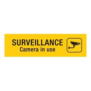 Apli Surveillance Camera Sign Yellow & Black PVC Sheet Self-Adhesive