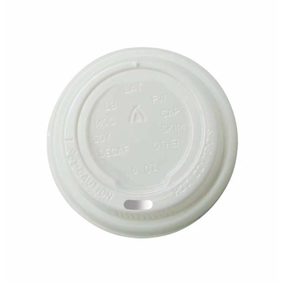 Tailored Packaging Lid For Cup 8Oz White Carton 1000