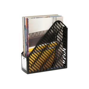 Marbig Plastic Magazine File Black Pack 2