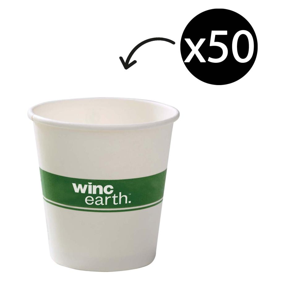 Winc Earth Paper Hot Cup 8Oz/285ml White Pack 50