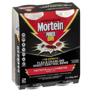 Mortein Powergard Flea & Crawling Insect Control Bomb 2 X 150g