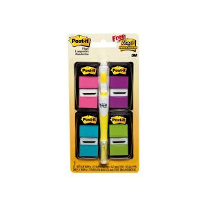 Post-It Flags Value Pack 25.4 x 43.2mm Includes Highlighter Assorted Pack 4