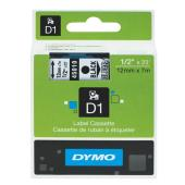 Dymo D1 Label Printer Tape 12mm x 7m Black On Clear