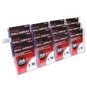 Deflecto Brochure Holder 12 Compartments Wall Mountable A4 Clear