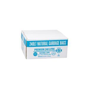 Austar Bin Liners Premium Heavy Duty 240 Litre Clear Packet 25 Carton 100