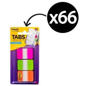 Post-It Tabs 25.4 x 38.1mm 22 Tabs Assorted Pack 3