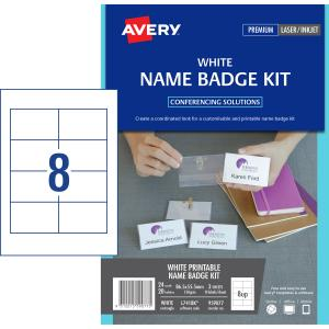 avery card name badges kit 86 5 x 55 5 mm 20 badges l7418k winc