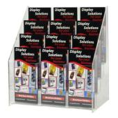 Deflecto Brochure Holder 12 Compartments Free Standing DL Clear