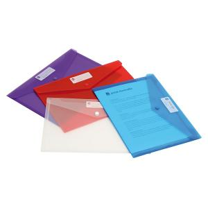 Marbig Envelope Button A4 Assorted Pack 10