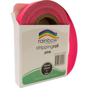 Rainbow Stripping Streamer Roll 25mmx30mm Pink