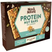 Nice & Natural Protein Nut Bar Salted Caramel 165g Box 5