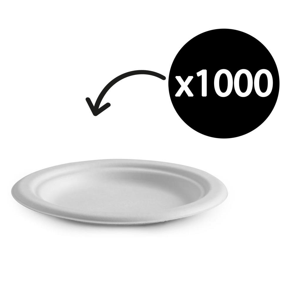 Biopak Biocane Round Plate 150mm Carton 1000