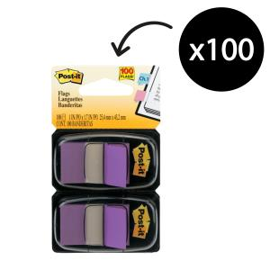 Post-It Flags 25.4 x 43.2mm Purple Pack 2
