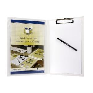 Marbig Professional Series Clipfolder A4 Expanding Pocket White