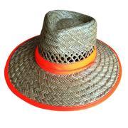Pro Choice Straw Hat With Hi Vis Orange Band Each