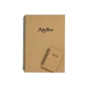 Cumberland Notebook Twin Wire A4 Natural Cover 160 Leaf Image