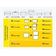 Tudor 116452 Envelopes Kraft Pocket Peel-N-Seal 265X190mm Box 250