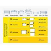 Tudor 117332 Envelopes Pocket Peel-N-Seal Heavyweight 305X255mm White Box 250
